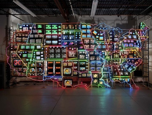 Nam June Paik - Electronic Superhighway: Continental U.S., Alaska, Hawaii